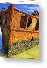 Maheno Shipwreck Greeting Card by Ramona Johnston