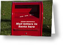 Mail Letters To Santa Here Greeting Card by Garry Gay