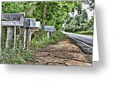 Mail Route Greeting Card by Scott Pellegrin