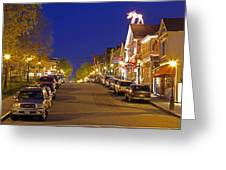 Main Street Bar Harbor Greeting Card by Juergen Roth