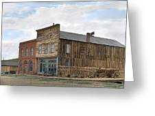 Main Street Bodie Greeting Card by Mel Felix