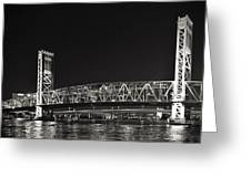 Main Street Bridge Jacksonville Florida Greeting Card by Christine Till
