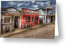 Main Street Greeting Card by Debra and Dave Vanderlaan