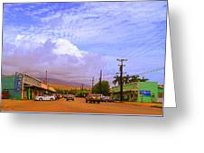 Main Street Kaunakakai Greeting Card by James Temple