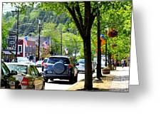 Main Street Greeting Card by Patti Whitten