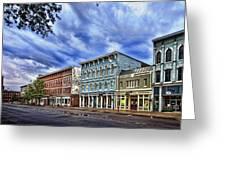 Main Street Usa Greeting Card by Tom Mc Nemar