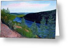 Maine Jordon Pond Greeting Card by Laura Tasheiko