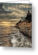 Maine Lighthouse Greeting Card by Chad Tracy