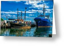 Maine Responder And Meridian Portland Me Greeting Card by Bob Orsillo