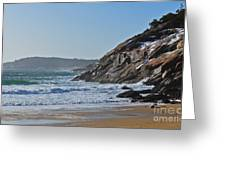 Maine Surfing Scene Greeting Card by Meandering Photography