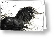 Majestic Friesian 48 Greeting Card by AmyLyn Bihrle