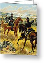 Major General George Meade At The Battle Of Gettysburg Greeting Card by Henry Alexander Ogden