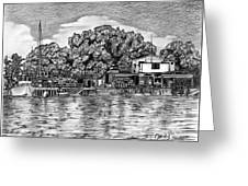 Majuro Harbor Greeting Card by Lew Davis