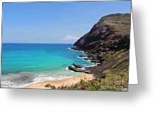 Makapu'u Beach Greeting Card by Kristine Merc