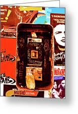 Make A Phone Call Greeting Card by Elizabeth Hoskinson