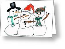 Making Snowman Santa Greeting Card by Minnie Lippiatt