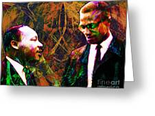 Malcolm and The King 20140205 Greeting Card by Wingsdomain Art and Photography