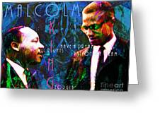 Malcolm And The King 20140205p180 With Text Greeting Card by Wingsdomain Art and Photography