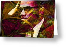 Malcolm X 20140105 Greeting Card by Wingsdomain Art and Photography