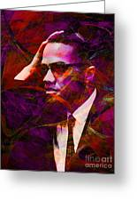 Malcolm X 20140105m28 Greeting Card by Wingsdomain Art and Photography