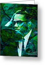 Malcolm X 20140105p138 Greeting Card by Wingsdomain Art and Photography