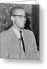 Malcolm X Greeting Card by Ed Ford