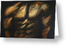 Male Bodybuilder Greeting Card by Danise Abbott