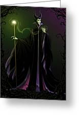 Maleficent Greeting Card by Christopher Ables