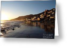 Malibu Topanga Sunset Greeting Card by Trekkerimages Photography