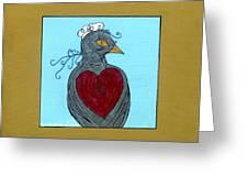 Mama Bird Greeting Card by Genevieve Esson