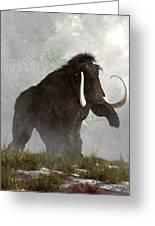 Mammoth In The Fog Greeting Card by Daniel Eskridge
