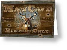 Man Cave Deer Greeting Card by JQ Licensing