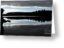 Man Fly Fishing Greeting Card by Judith Katz