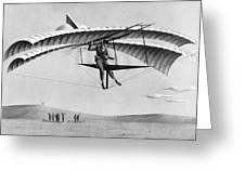Man Gliding In 1883 Greeting Card by Underwood Archives