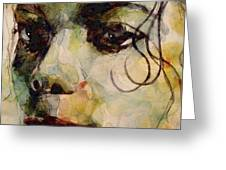 Man In The Mirror Greeting Card by Paul Lovering