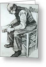Man Reading The Bible Greeting Card by Vincent van Gogh