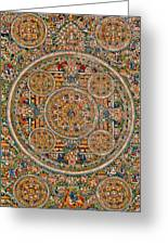Mandala Of Heruka In Yab Yum And Buddhas Greeting Card by Lanjee Chee