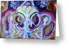 Mandala The Ballet Greeting Card by Judith Desrosiers