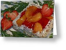 Mandarin And Strawberry Surprise Greeting Card by Inspired Nature Photography By Shelley Myke