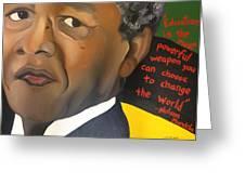 Mandela Greeting Card by Chelsea VanHook