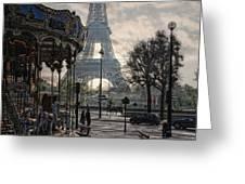 Manege Parisienne Greeting Card by Joachim G Pinkawa