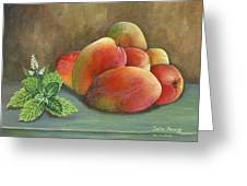 Mango And Mint Greeting Card by Trister Hosang
