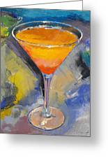 Mango Martini Greeting Card by Michael Creese