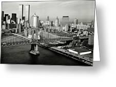 Manhattan Bridge Greeting Card by Benjamin Yeager