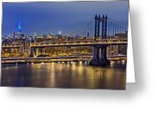 Manhattan Bridge Greeting Card by Eduard Moldoveanu