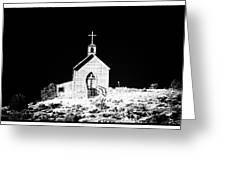 Manhattan Church High Contrast Greeting Card by Cat Connor