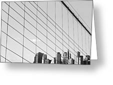 Manhattan From Brooklyn Bridge Greeting Card by Ilker Goksen