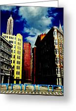 Manhattan Highlights Greeting Card by Benjamin Yeager