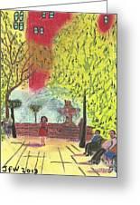 Manhattan Park 1 Greeting Card by John Williams