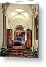 Mansion Hallway IIi Greeting Card by Adrian Evans